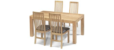 cube dining table and chairs cube oak 160 cm dining table and 4 chairs quercus living