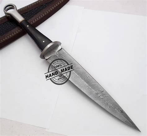 Handmade Daggers - new damascus swiss dagger knife custom handmade damascus steel