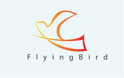 templates for logos flying bird free vector logo template