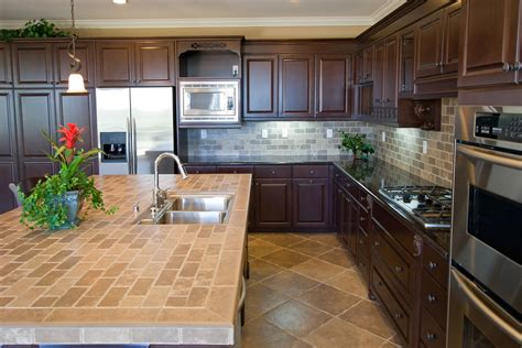kitchen tile countertop ideas ceramic tile kitchen counters with laminate countertop