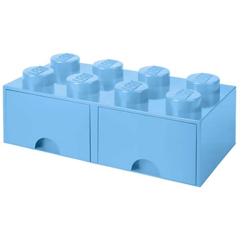 lego three drawer organizer lego storage 8 brick 2 drawers light royal blue