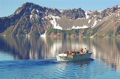 boat tour crater lake outdoor adventure in southern oregon s klamath county