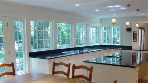 Bow Window Treatments Pictures a not so big addition the kitchen traditional