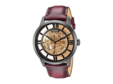 Fossil Me 1122 Gold Brown fossil townsman me3098 in brown for lyst