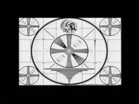 tv test pattern watch tv television indian head test pattern youtube
