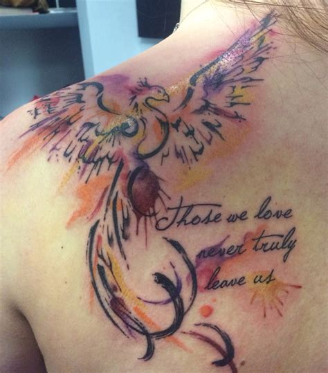phoenix tattoo little my phoenix harry potter inspired tattoo quot those we love