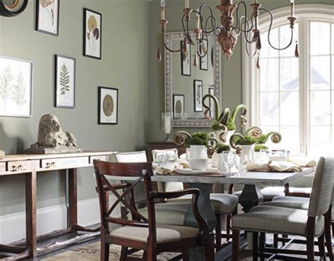 Facing Dining Room Colors Miscellaneous Benjamin Creekside Green