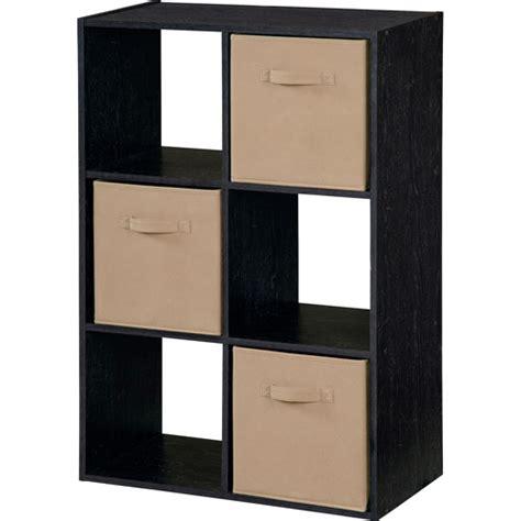 Walmart Storage Furniture by Storage Cube With Bins Black Ash Walmart