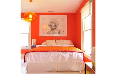 orange feature wall bedroom how to decorate with orange realestate com au