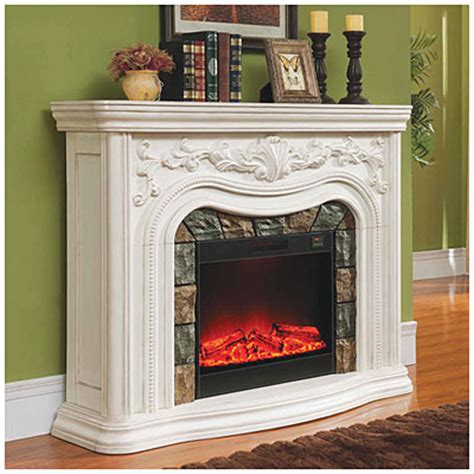 62 quot grand white electric fireplace big lots - Big Lots Furniture Fireplace