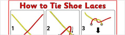 printable directions how to tie a tie how to tie shoe laces instruction sheet ref sb3623