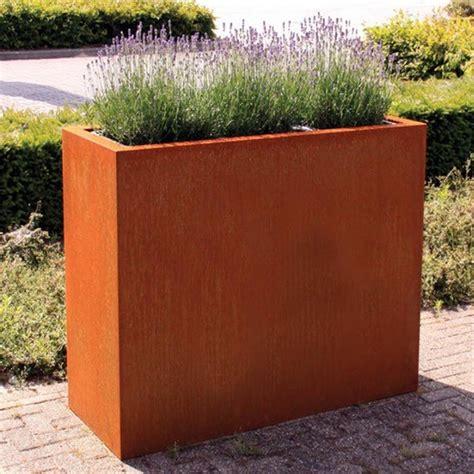 corten steel andes trough planter pot company esi