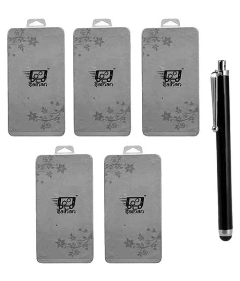 Tempered Glass Oppo Mirror 5 Jete saihan 5 packs of tempered glass with 1 stylus pen for