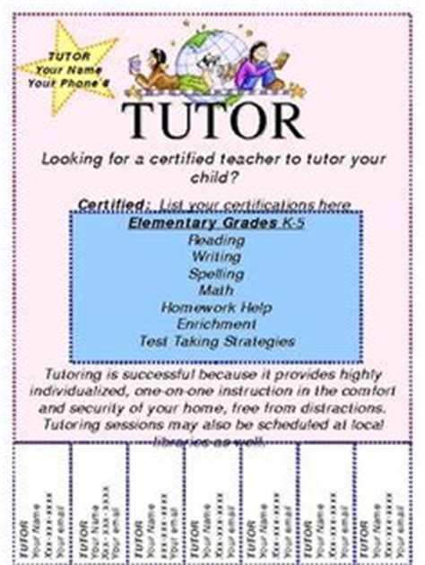 15 Cool Tutoring Flyers 9 Tutoring Pinterest Pto Flyers And Teacher Tutoring Flyer Template