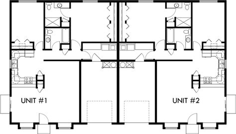 2 bedroom duplex plans main floor plan 2 for d 583 one story duplex house plans