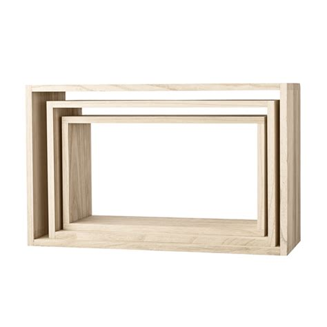 Etagere Murale Bois Brut 2233 by Etag 232 Re Murale En Bois Naturel Rectangulaire