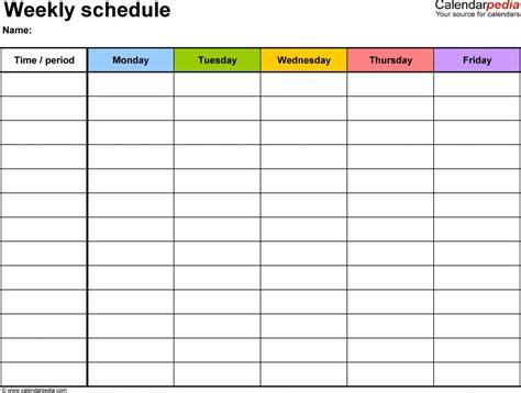 printable online schedule free printable weekly calendar onlyagame