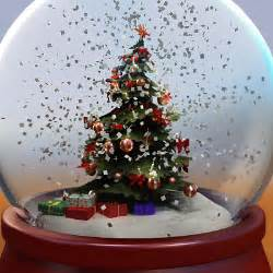 3ds max snow globe tree christmas
