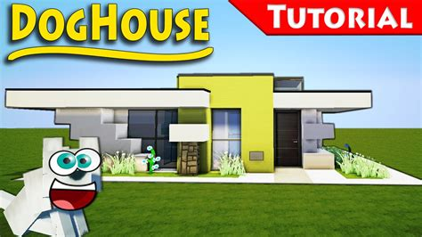 minecraft how to make a dog house minecraft how to build a modern doghouse tutorial youtube