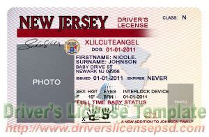 new jersey id card template drivers license drivers license drivers license