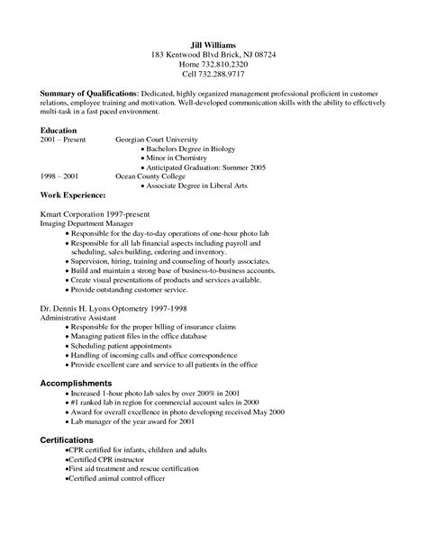 business resume objective jmckell com