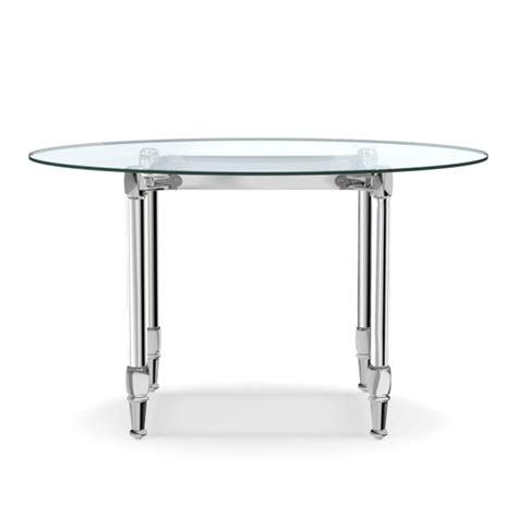 polished nickel table l stevenson dining table polished nickel williams