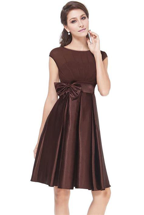 Satin Ruffles Dress bowtie neck ruffles satin cocktail dress oasap