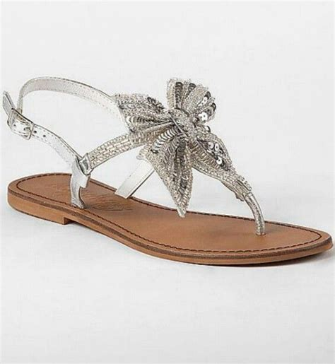 sandals with a bow silver sandals with bow shopping bag