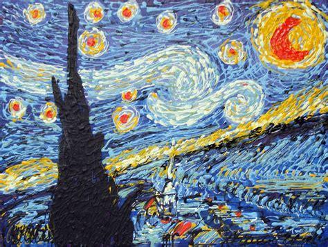 Tulisan Acrylic belajar dari starry the painting of handoko aji
