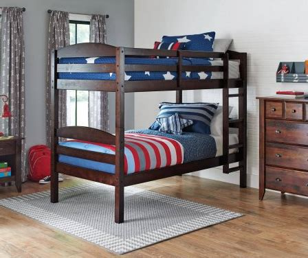 homes  gardens twin wood bunk bed   twin