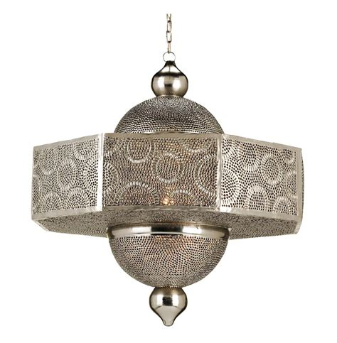 Ornate Pierced Metal Filigree Moroccan Style 1 Light Moroccan Style Pendant Light