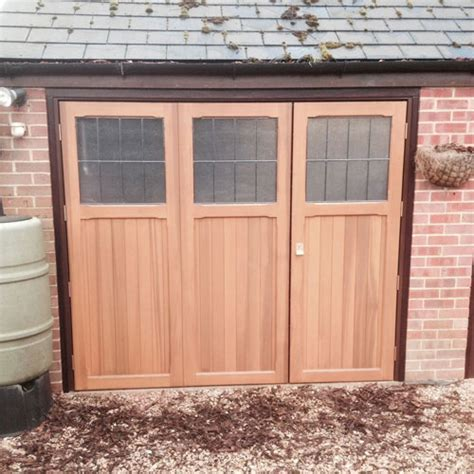 Replacing Garage Side Door by Cardale Timber Side Hinged Garage Doors With Windows