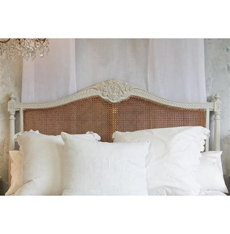 cane headboard queen louis xvi french country oyster natural cane queen
