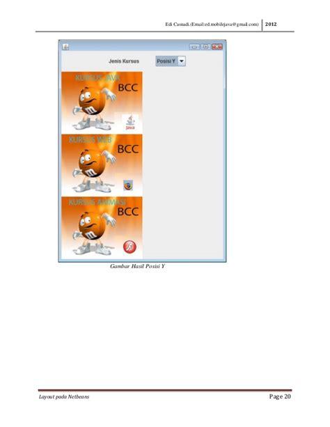 java layout y axis layout java dengan netbeans