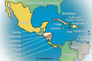maps of central america and south america