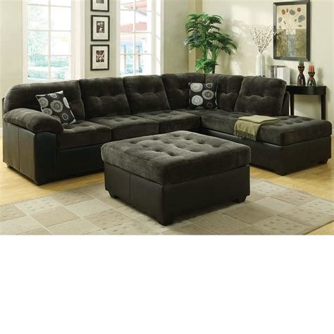green sectional sofa dreamfurniture com 50530 layce dark green morgan fabric