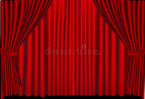 curtains finally closing red curtains closed stock vector illustration of concept