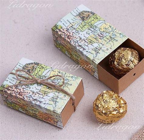 Pb34269 Paper Bag Gift Box Kado Souvenir World Map Wedding Favors Boxes Gift Box Sugar