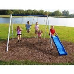 flexible flyer backyard swingin fun metal swing set metal outdoor playsets foter