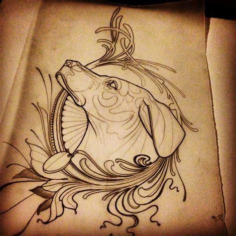 baroque dog tattoo idea by jef small best tattoo ideas
