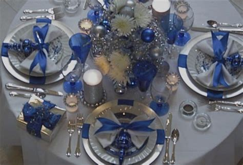 black blue and silver table settings beautiful blue silver christmas table school auction