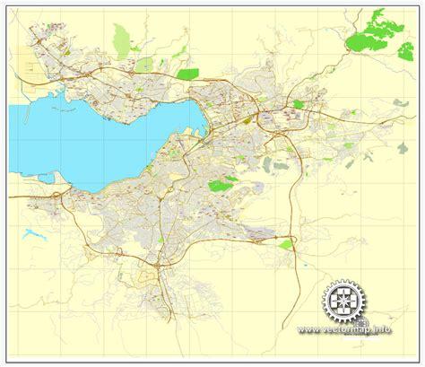 printable turkey map izmir turkey printable vector street city plan map full