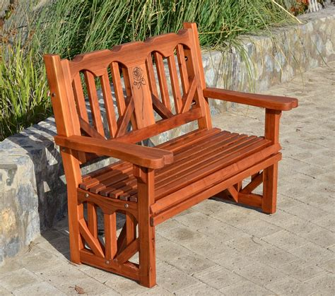 redwood bench outdoor redwood heart bench forever redwood