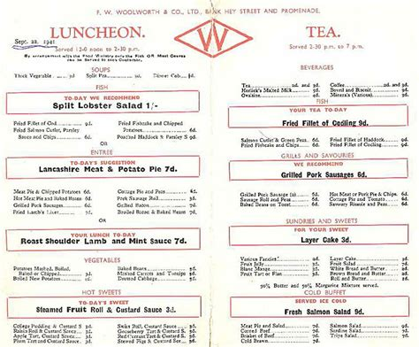 A Menu For Ii by Wartime Restaurant Menu