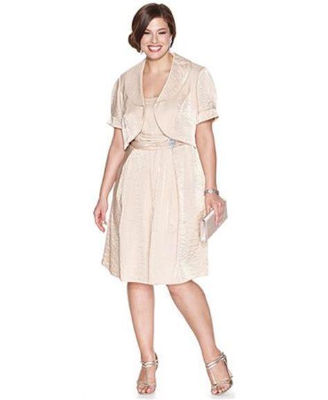Vorish Dreaa chagne dress with jacket plus size formal dresses