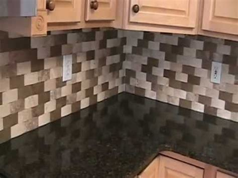 backsplash with speartec basket weave travertine tile