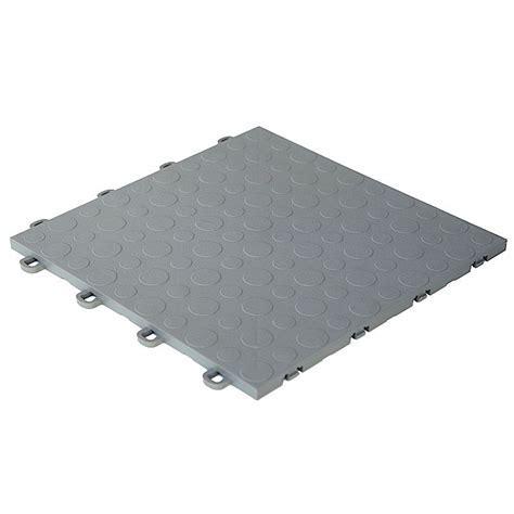 Interlocking Floor Tiles   Gray   Coin Top