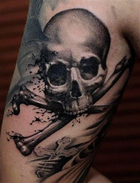 skull and bones tattoo a for me this style for sure use black