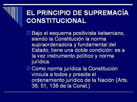 la supremac a de la constituci n y control de control constitucional y procedimiento presentaci 243 n
