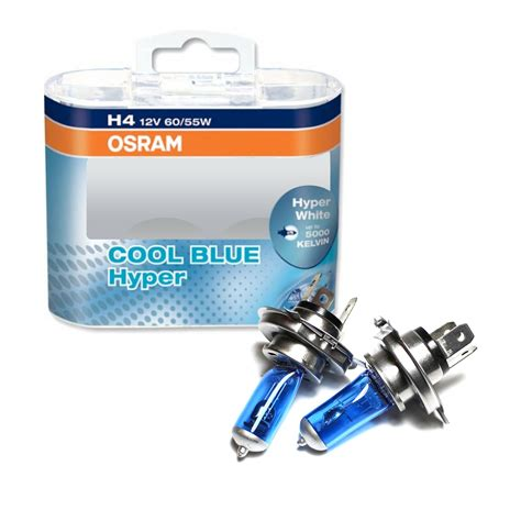 lade h4 philips lade osram cool blue hyper osram cool blue hyper white